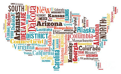 Wordcloud Of America Poster