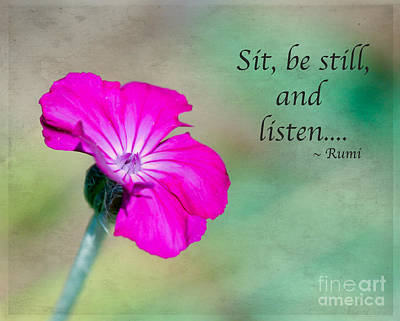 Words From Rumi Poster by Kerri Farley