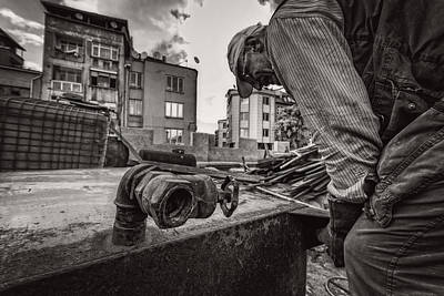 Work Bw Poster by Mustafa Otyakmaz