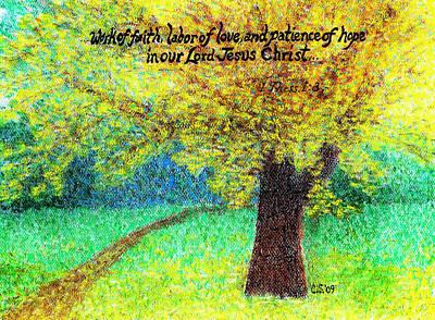 Work Of Faith Poster by Catherine Saldana