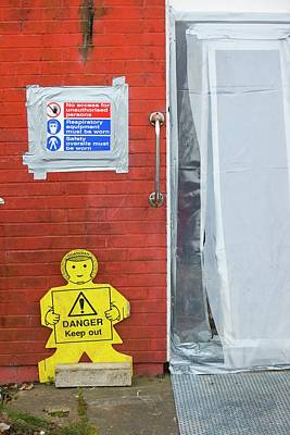 Workers Removing Asbestos Poster by Ashley Cooper