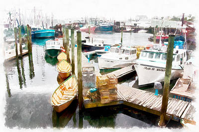 Working Harbor In Gloucester Ma Poster