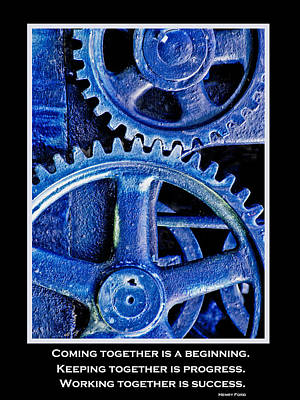 Working Together Poster by David and Carol Kelly