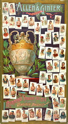 World Champion Athletes 1884 Poster by Padre Art