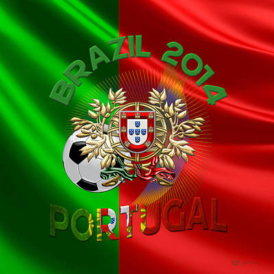 World Cup 2014 - Team Portugal Poster by Serge Averbukh