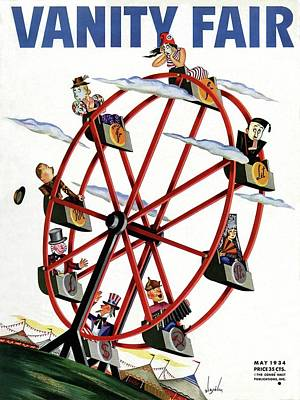 World Currencies Ferries Wheel Poster