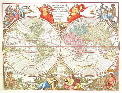 World Map C1694 Poster by Safran Fine Art