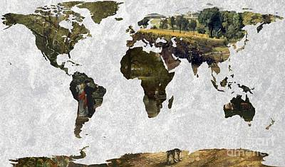 World Map Constable 2 Poster by John Clark