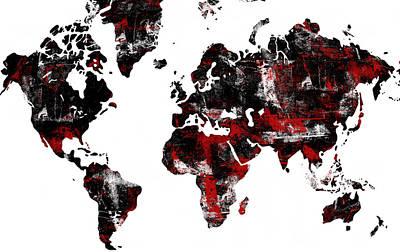 World Map Poster by Modern Art Prints