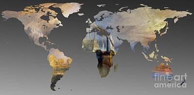 World Map  Joseph Turner 3 Poster