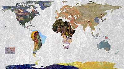World Map Monet 1 Poster by John Clark
