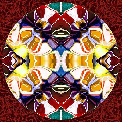 World Of Color Modern Mandala Poster by Georgiana Romanovna