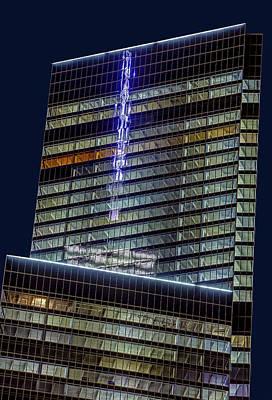 World Trade Center Mast Reflection Poster by Susan Candelario