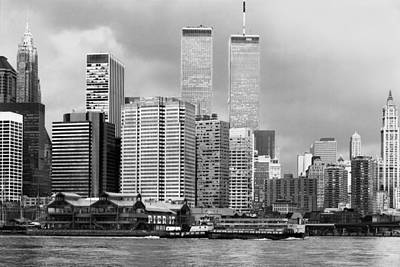 New York City - World Trade Center - Vintage Poster by Dave Beckerman