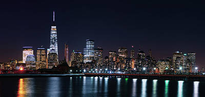 World Trade From Liberty State Park Poster by Raymond Salani III