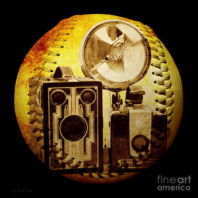 World Travelers 4 Baseball Square Poster by Andee Design