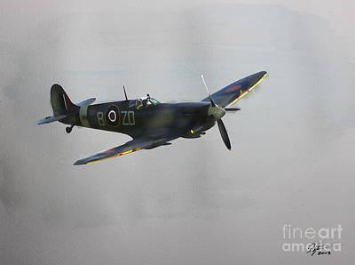 World War 2 Spitfire Poster by Roger Lighterness