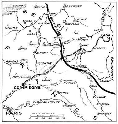 World War I Map, C1916 Poster