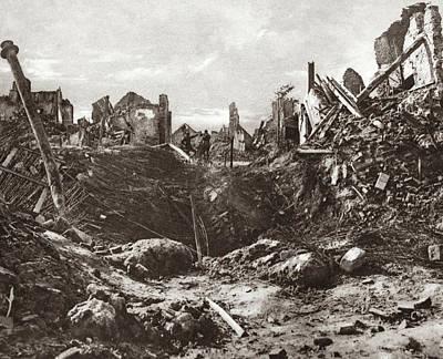 World War I Mine Crater Poster by Granger