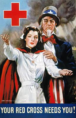 World War II: Red Cross Poster by Granger