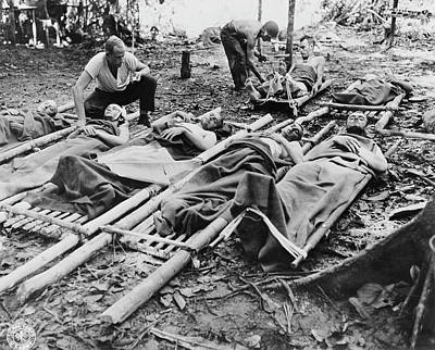 Wounded American Soldiers Given Medical Poster