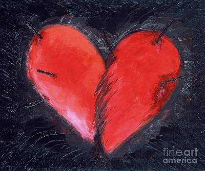 Wounded Heart Poster by Karen Francis