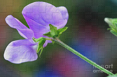 Woven Floral Poster by Kaye Menner