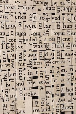 Woven Words Poster by Edward Fielding