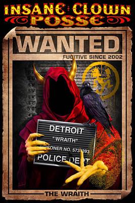 Wraith Mugshot Poster by Tom Wood
