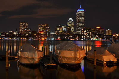 Wrapped Boston Boats For The Winter Poster by Toby McGuire
