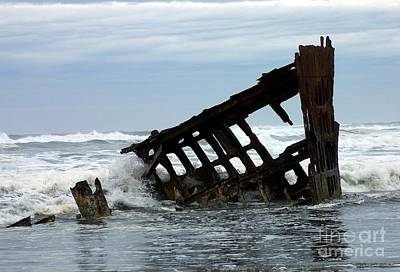 Wreck Of The Peter Iredale Poster by Chalet Roome-Rigdon