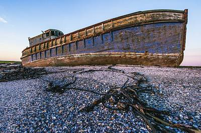 Wrecked Ship Poster by Science Photo Library
