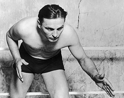 Wrestling Champion Joe Stecher Poster by Underwood Archives