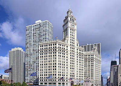 Wrigley Building Chicago Poster by Christine Till