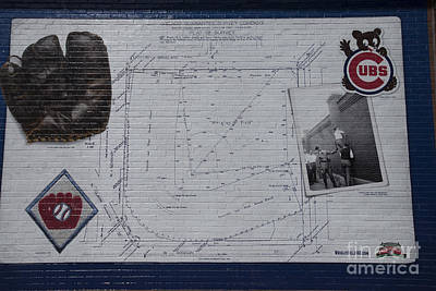 Wrigley Field - Plat Of Survey Poster