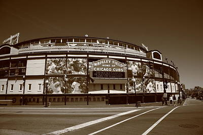 Wrigley Field - Chicago Cubs 26 Poster by Frank Romeo