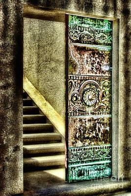 Wrigley's Tower Bronze Doors By Diana Sainz Poster