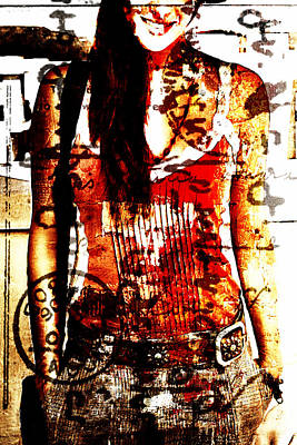 Written Girl Poster by Andrea Barbieri