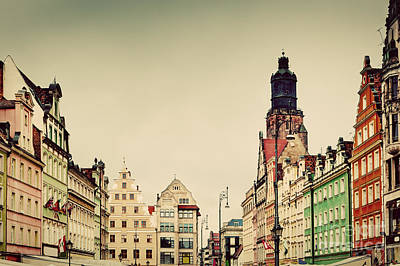 Wroclaw Poland In Silesia Region The Market Square Poster by Michal Bednarek