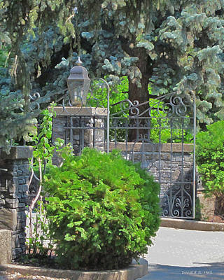 Wrought Iron Gate Poster by Donald S Hall