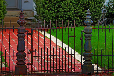Poster featuring the photograph Wrought Iron Gate by Rowana Ray