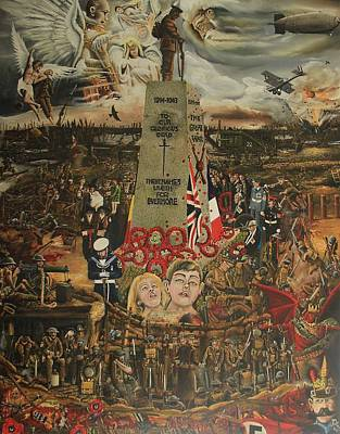 Special Edition  Comemorative Ww1 1914-1918 Painting Poster