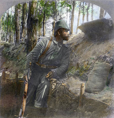 Wwi German Soldier, 1916 Poster