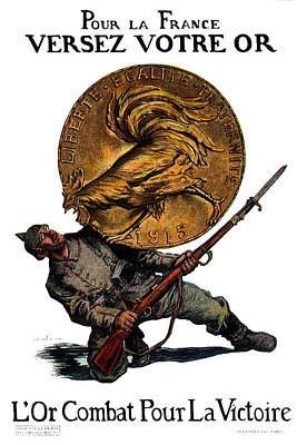 Wwi Gold For French Victory Poster by Historic Image