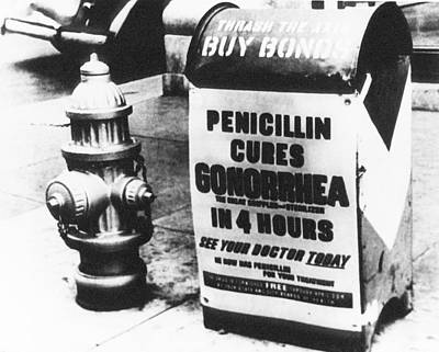 Wwii Penicillin Advert Poster