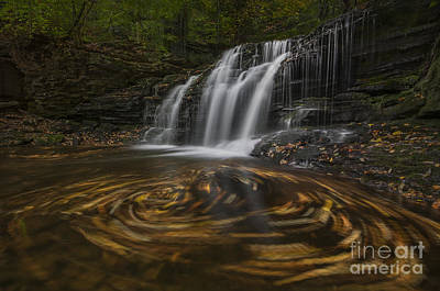 Poster featuring the photograph Wyandot Falls by Roman Kurywczak