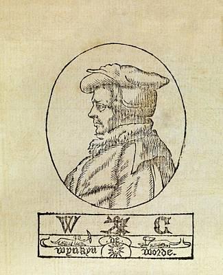 Wynkyn De Worde Poster by Middle Temple Library