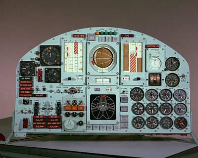 X-15 Aircraft Control Panel Poster
