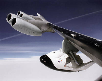 X-38 Spacecraft On B-52 Wing Poster by Nasa