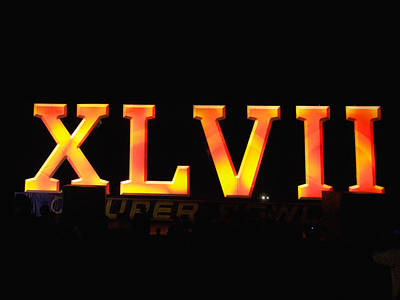 Poster featuring the photograph Xlvii Super Bowl Sign by Photography  By Sai